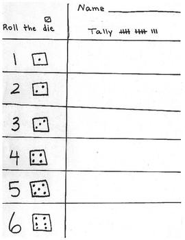 Tally Mark Dice Game
