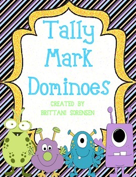 Tally Mark Dominoes; 8+ Math Center Games Teaching Number Sense