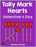 Tally Mark Hearts Valentine's Day Worksheets