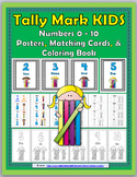 Tally Marks Activities, Poster and Coloring Book