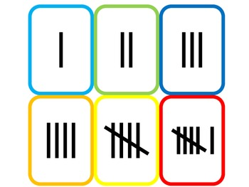 tally mark match tallies flash cards common core math by shae hare