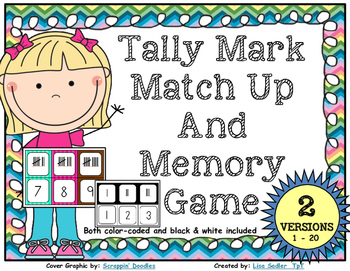 Tally Mark Match Up and Memory game
