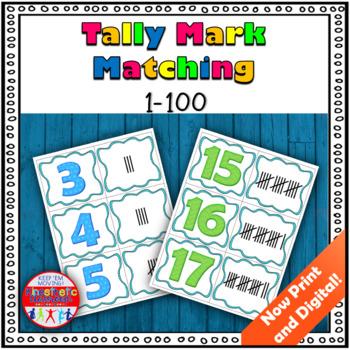 Tally Mark Matching Game 0-100