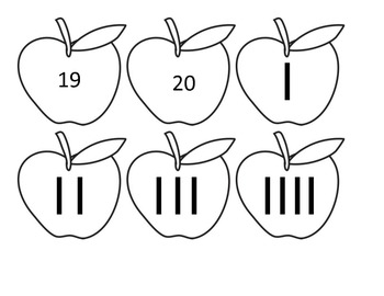 Tally Mark Matching Game (Numbers 1-20)