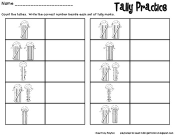 Tally Mark Matching Game 1-30