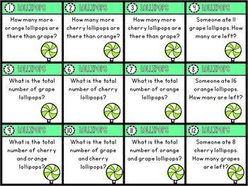Tally Mark Math - 3 Master Cards and 36 Task Cards