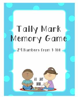 Tally Mark Memory Game and Recording Sheet