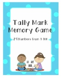 Tally Mark Memory Game and Recording Sheet
