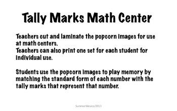 Tally Mark Memory Popcorn