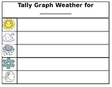 Tally Mark Monthly Weather Graph for Calendar