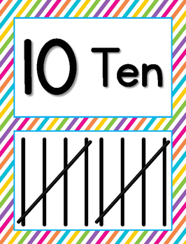 Tally Mark Posters to 10