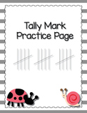 Tally Mark Practice Page