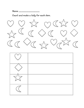 Tally Mark Practice Pages