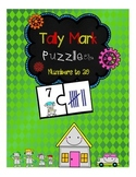 Tally Mark Puzzles (2 Piece Puzzles)