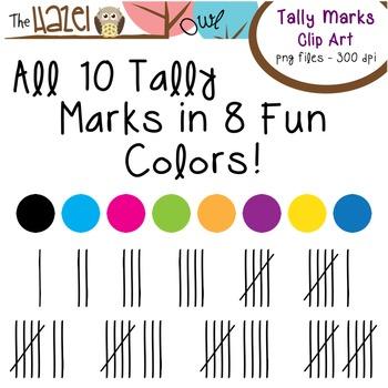 Tally Mark Set: Clip Art Graphics for Teachers