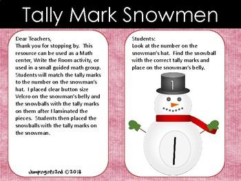 Tally Mark Snowman 1-20