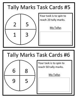 Tally Mark Task Cards