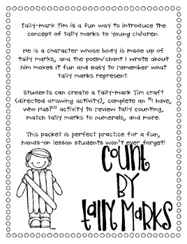 Math Activities for Tally Marks