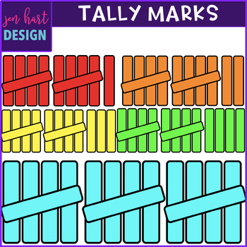 Tally Mark Clip Art 1-20 (jen hart Clip Art}