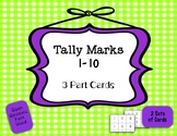 Tally Marks: 3 Part Self-correcting Cards {Differentiated}