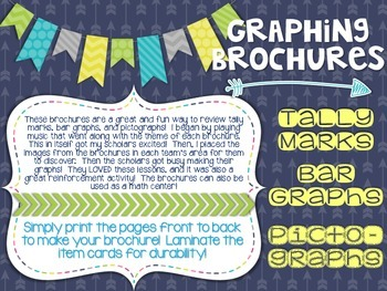 Tally Marks, Bar Graphs, and Pictographs - Engaging Brochure Graphing