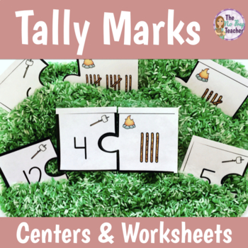 Tally Marks Centers, Worksheets, and Solve the Room