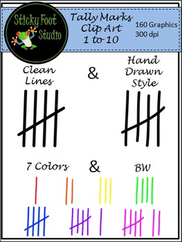 Tally Marks Clip Art - 180 Graphics