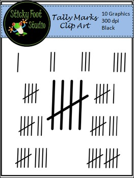 Tally Marks Clip Art For Math - Black Lines