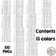 Tally Marks Clip Art * Huge Set of 130 Images * 13 Color C