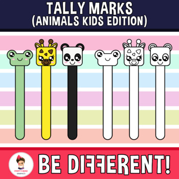 Tally Marks Clipart (Animals Kids Edition)