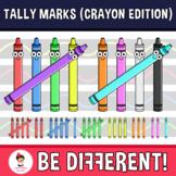 Tally Marks Clipart (Crayon Edition)