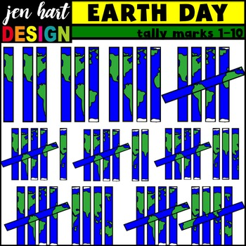Tally Marks Clipart {Earth Day}