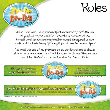 Tally Marks Clipart {Zip-A-Dee-Doo-Dah Designs}