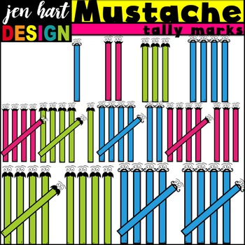 Tally Marks Clipart {Mustache}