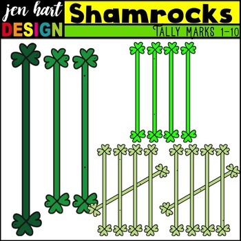 Tally Marks Clipart {Shamrocks}