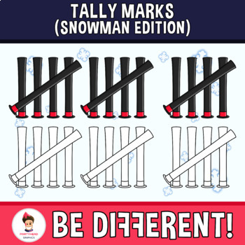 Tally Marks Clipart (Snowman Edition)