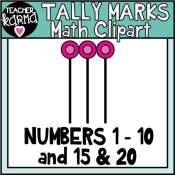Tally Marks Clipart for Math