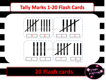 Tally Marks Clothespin Flash Cards