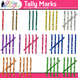 Glitter Tally Marks Clip Art {Counting Manipulatives for Math Resources}