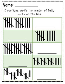 Tally Marks: Draw and Write