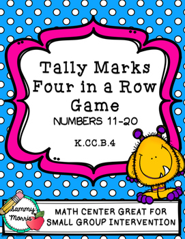 Tally Marks Four-in-a-Row Game (Numbers 11-20)
