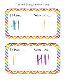 Tally Marks: I Have, Who Has?