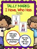 1st Grade Tally Mark Games: I Have, Who Has