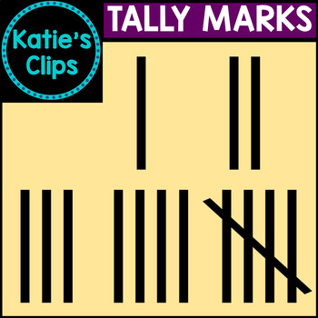 Tally Marks {Katie's Clips Clipart}