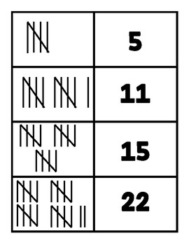 Tally Marks Match Game