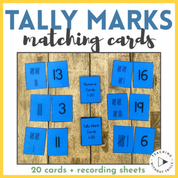 {Numbers 1-20} Tally Marks Matching Cards or Concentration
