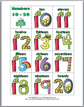 Tally Marks - St. Patrick's Day Math