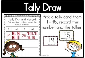 Tally Marks Math Center Station