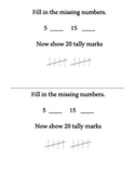 Tally Marks Math Journal Prompt