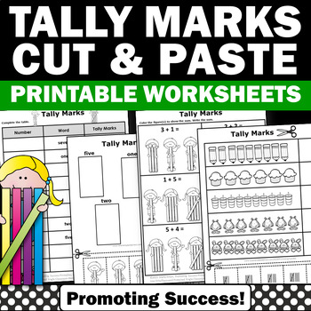 Tally Marks Kindergarten Math Worksheets, Counting 1-10 Centers